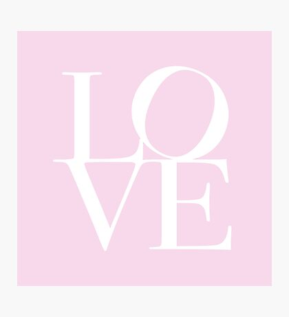 Love in Pink Photographic Print
