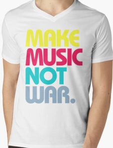 Make Music Not War (Venerable) Mens V-Neck T-Shirt