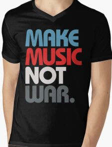 Make Music Not War (Prime) Mens V-Neck T-Shirt