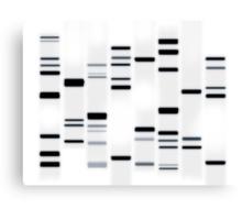 DNA Art Black on White Canvas Print