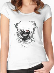 Tokyo Ghoul - The Eyepatch Ghoul (White Version) Women's Fitted Scoop T-Shirt