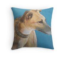 Tan Greyhound Throw Pillow