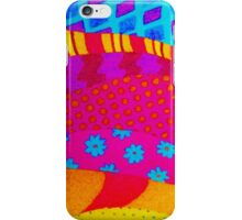 THE HIPSTER - Cool Colorful Vibrant Abstract Mixed Media Trendy Fabric Patterns Illustration iPhone Case/Skin