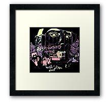 fear and loathing in las vegas black light Framed Print