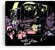 fear and loathing in las vegas black light Canvas Print