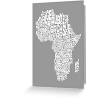Map of Africa Map Text Art Greeting Card