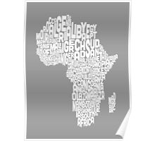 Map of Africa Map Text Art Poster
