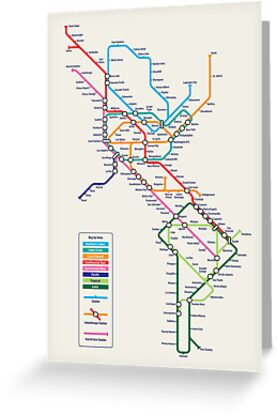 Americas Metro Map by Michael Tompsett