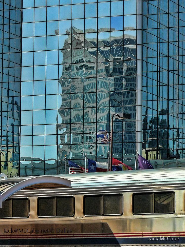 Shiny Dallas Windows Over the Texas Eagle Train by Jack McCabe