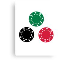 Poker casino Canvas Print