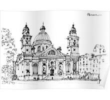 Chiesa A Genova Carignano Poster