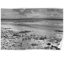Yamacraw Beach in Nassau, The Bahamas (Black & White) Poster