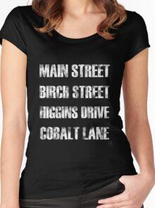 Birch Street, Higgins Drive Women's Fitted Scoop T-Shirt