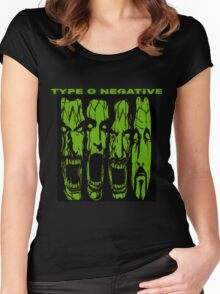 TYPE O NEGATIVE SCREAM Women's Fitted Scoop T-Shirt