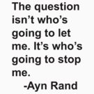 Ayn Rand by devogne