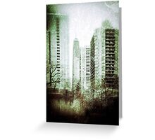 Vintage City View Greeting Card