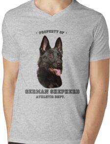 German Shepherd Athletic Dept. Mens V-Neck T-Shirt