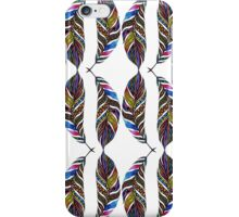 Colorful Hand Drawn Pattern Feathers iPhone Case/Skin