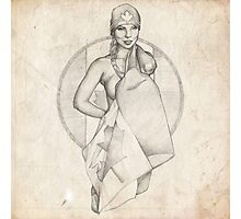 Canada Day Pinup Girl Sketch Photographic Print
