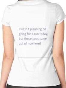 Running Women's Fitted Scoop T-Shirt