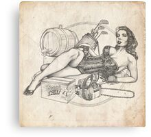 Father's Day Pinup Sketch Canvas Print