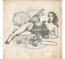Father's Day Pinup Sketch Photographic Print