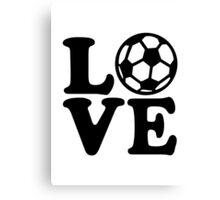 Soccer love Canvas Print