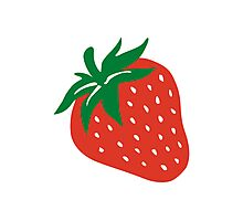 Red strawberry Photographic Print