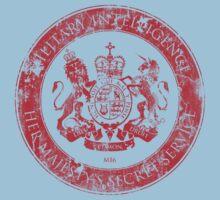 On her Majesty's secret service logo  - RED Kids Clothes
