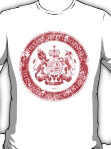 On her Majesty's secret service logo  - RED T-Shirt