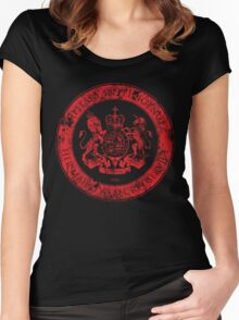 On her Majesty's secret service logo  - RED Women's Fitted Scoop T-Shirt