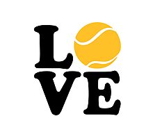 Tennis love Photographic Print