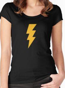 Yellow Flash Lightning Bolt Women's Fitted Scoop T-Shirt