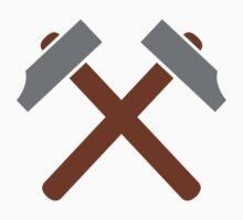 Crossed hammer tools Kids Tee