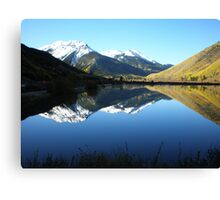 Colorado Mountain Mirror Lake Canvas Print