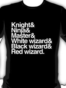 Final Fantasy Job Upgrade (white text) T-Shirt
