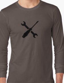 Crossed Screwdriver wrench Long Sleeve T-Shirt