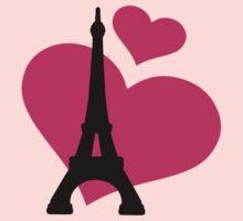 Eiffel Tower Paris Kids Tee