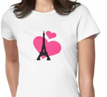 Eiffel Tower Paris Womens Fitted T-Shirt