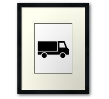 Truck icon Framed Print