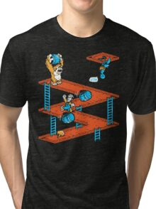 Escher Kong Tri-blend T-Shirt