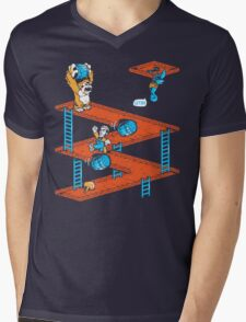 Escher Kong Mens V-Neck T-Shirt