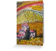 Italian Vinyard Greeting Card