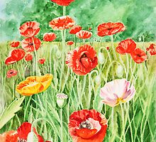 Poppies by Irina Sztukowski