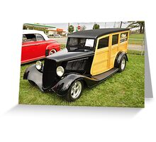 1930's Ford Woody Wagon Greeting Card