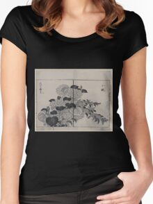 Blossoms from two kinds of hydrangea 001 Women's Fitted Scoop T-Shirt