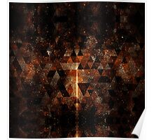 Gold beam in geometric sparkly universe Poster