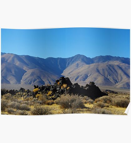 Volcanic rocks and mountains Poster
