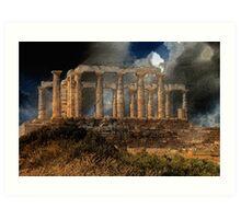 Temple of Poseidon Art Print