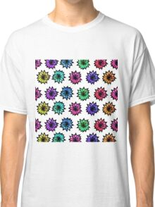 Colorful Hand Painted Flowers Classic T-Shirt